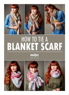 Learn the easiest (and trendiest) ways to tie a blanket scarf for the perfect fall outfit at #MeijerStyle.