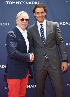 Tommy Hilfiger and Rafael Nadal attend the Tommy Hilfiger and Rafael Nadal Global Brand Ambassadorship Launch  at Bryant Park on August 25, 2015 in New York City. - Tommy Hilfiger And Rafael Nadal Launch Global Brand Ambassadorship