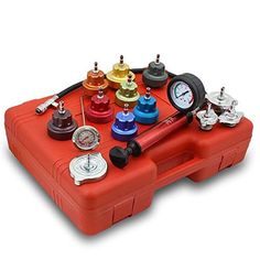 14 Pcs Radiator Pressure Tester and Vacuum Type Cooling System Kit Bmw E60, Relief Valve, Cooling System, Radiators, Jaguar, Cell Phone Accessories, Vacuums, Pumps, Cool Stuff