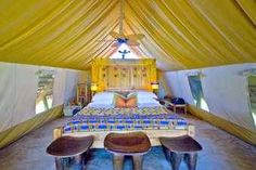 Grumeti Tented Camp is a wonderful basis from where one can experience the annual migration or a great variety of animals outside the migration season. Colorful Interior Design, Colorful Interiors, River Camp, Safari Adventure, Out Of Africa, Tanzania, Outdoor Furniture, Outdoor Decor, Glamping