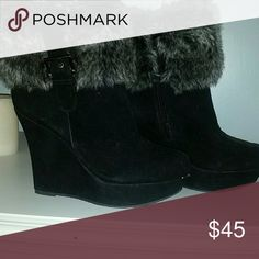 Faux fur boots New faux fur ankle booties Shoes Ankle Boots & Booties
