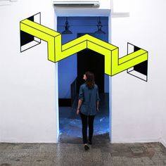 Playful tape installation art by Aakash Nihalani » Lost At E Minor: For creative people