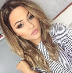 hair color blonde and brown Brown Hair Color Shades, Blonde Color, Light Brown Hair Colors, Beige Hair Color, Hair Colour, Wedding Hair And Makeup, Hair Makeup, Wedding Guest Makeup, Makeup Hairstyle