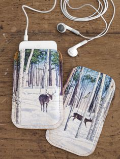 How to make a custom leather iPod case. Great #gift idea!
