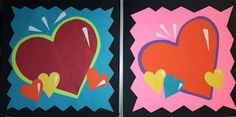 we heart art Burton Morris Pop Art Hearts valentine's day elementary art lesson project collage
