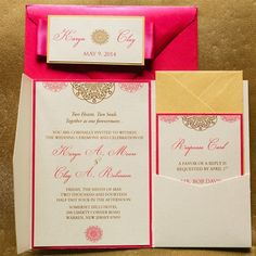 Create your free Wedding Website with over 160 customizable designs. Bespoke Wedding Invitations, Wedding Invitation Suite, Invitation Set, Invitation Design, Acrylic Invitations, Special Day, Pink And Gold, Wedding Ceremony, Create Yourself