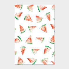 Cute watercolor card made by Studio Cremers. Wanna buy? Send me a message! #watercolor #waterpaint #watermelon #watermelonpattern #pattern #print #card #cute #birth #graphic #design #creative