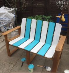 painted wood slat chairs - Google Search