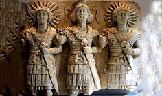 Attributes of Sol Invictus - Unconquered Sun - appear clearly on this Gallo-Roman bas-relief