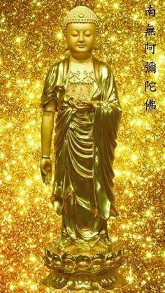 Buddha Quotes Life, Amitabha Buddha, Mahayana Buddhism, Flower Phone Wallpaper, Gold Money, Buddha Art, Gold Bullion, Indian Beauty Saree, Gold Art