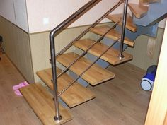 When planning the house that consists of two or more floors, you should calculate and design the location of the staircase in advance. This structure. Metal Steps, Wooden Steps, Wooden Staircases, Stair Case, Steel Rod, Wooden Bar, Staircase Design, Wood And Metal, Modern Decor
