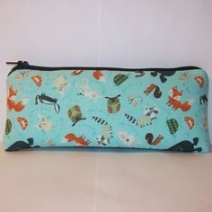"""Padded Pipe Pouch, Woodland Creatures, Glass Pipe Case, Cute Pipe Bag, Animal Pipe Pouch, Hippy Boho Bag, Vape Pen Bag, 420 Bag - 7.5"""" LARGE by PouchAPalooza.com"""