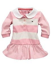 a95be6df Tommy Hilfiger Baby Girls Rugby Dress and Briefs (2 Piece) Kids Outfits,  Cute