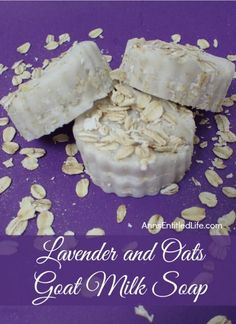 Lavender and Oats Goat Milk Soap Recipe. Making your own soap is fast, fun and easy. This soothing recipe of luxurious goats milk, hydrating shea butter and exfoliating oatmeal smells fantastic and feels great on your skin. Treat yourself to a spa-like experience with this wonderful Lavender and Oats Goat Milk Soap. #soapmakingbusinessplan