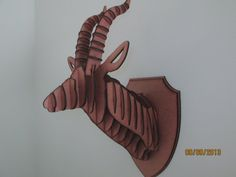 Large Laser Cut Wood Antelope Head Wall Trophy by TrueAmbition99, $25.00