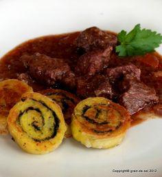 grain de sel - salzkorn: I ♥ Ch&C - Tribute zum 8jährigen - Kartoffelroulade mit bœuf bourguignon