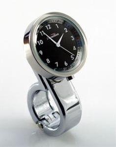 Elegant. Handlebar clock for #bicycling.