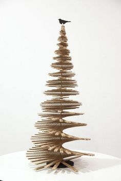 Diy christmas tree 561753753513354550 - Multidimensional – 25 Alternative Christmas Trees To Try This Year – Photos Source by lonnymag Recycled Christmas Tree, Cardboard Christmas Tree, Unique Christmas Trees, Alternative Christmas Tree, Christmas Tree Design, Christmas Crafts, Christmas Ornaments, Holiday Tree, Christmas Snowman