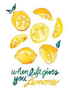 watercolor lemon illustration