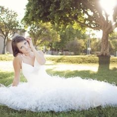 Scottsdale, Arizona bridal session. Edyta modeled a gown from Demetrios at Scottsdale Civic Center.