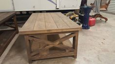 Rustic X Coffee Table by FosterDesignCo on Etsy