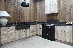 Bekijk de foto van Ineke-de-Jong met als titel Mooie landelijke keuken op maat. Deze steigerhouten keuken is voorzien van een hardsteen blad en spoelbak.  en andere inspirerende plaatjes op Welke.nl.