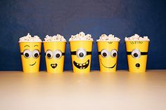 15 Fun Ideas for a Minions Movie Night at School - PTO Today Minion Theme, Minion Movie, Classroom Birthday Treats, Popcorn Cups, Yellow Minion, Pto Today, School Fundraisers, Family Movie Night, Kids Church