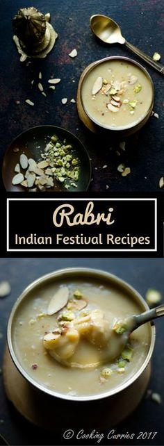Rabri - Creamy milk reduced to a thick pudding of sorts that is sweetened with sugar and made fragrant with saffron and cardamom, one spoon of this rabri is enough to make you forget about all the woes in this world!