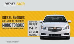 The #Chevrolet #Cruze Turbo #Diesel has  power and efficiency.