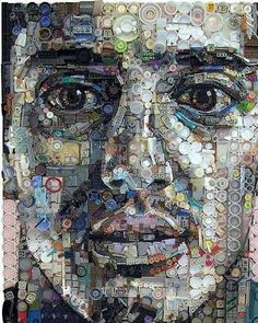 Zac Freeman takes every day objects (such as buttons, remote controls, film canisters, circuits, gears and telephone parts) and creates magical portrait collages. Amazing!