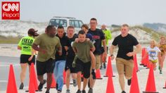 Marines carry boy across finish line after his prosthetic leg breaks during triathlon. Inspiration, hope, courage and generosity!  This brave young man should be an inspiration to all of us and the marines did what their promise is to each other:  never leave a fellow marine behind.  We can all learn from these honorable young men and this courageous survivor of cancer.