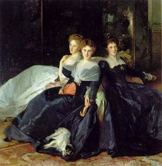 "651 Likes, 8 Comments - Susan Holloway Scott (@susan_holloway_scott_author) on Instagram: ""One more trio of sisters by John Singer Sargent. I particularly like the dog asleep on the hem of…"""