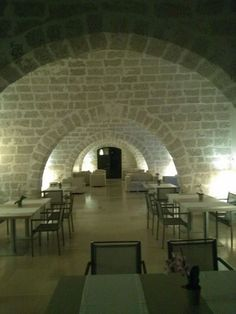 Relais Histo's amazing multiple-arched dining room/lounge. Gorgeous! http://www.facebook.com/celebratetravelinc