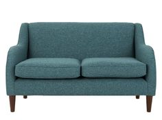 Helena 2 Seater Sofa, Textured Weave Teal