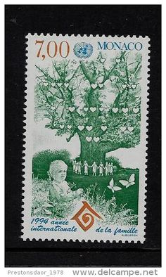 MINT STAMP - INTERNATIONAL YEAR OF THE FAMILY - 1994 - MONACO - **/MNH - Delcampe.net