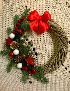 Wianek Bożonarodzeniowy, stroik świąteczny www.facebook.com/rekodzielo.dekoracje.upominki