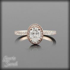 awesome Engagement Rings 2017 / 2018Rose Gold Engagement Ring with Diamond by LaurieSarahDesigns, $5552.63... Check more at https://speeddating.tn/engagement-rings-2017-2018rose-gold-engagement-ring-with-diamond-by-lauriesarahdesigns-5552-63/