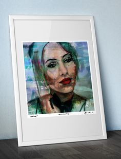 PORTRAIT Of The Beauty WOMAN - art prints   / paper, painting, canvas, sketch, woman, girl, artwork, wall decor, poster, red lips, hair / by ARTandROLL on Etsy