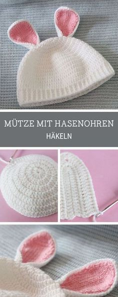 610e9220247 Knitting Patterns Pullover Crochet pattern for a cute baby hat with rabbit  ears