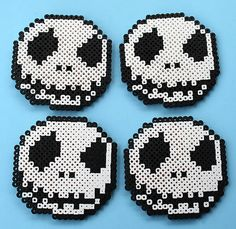 Nightmare Before Christmas Jack Skellington Coasters with Container