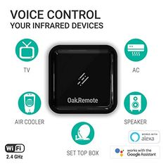 OAKTER SELF DRIVING HOMES Oakremote - WiFi Universal Remote OakRemote V2 with Amazon Alexa Compatibility (IR Blaster Black)   Electrical Home Improvement Smart Electrical Products   Best news and deals! Internet Network, Mens Diamond Wedding Bands, Amazon Shares, Music System, Digital Tv, Works With Alexa, Self Driving, Home Automation, All In One