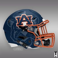 Check out these concept helmet designs for Auburn - Auburn Tigers, Auburn Football, Custom Football, Cool Football Helmets, Football Helmet Design, College Football Uniforms, Football Memes, Collage Football, Football Pictures
