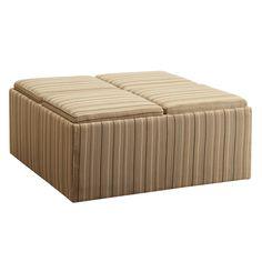 Homelegance Striped Storage Ottoman   $377.99 @hayneedle