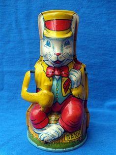 tin bunny bank