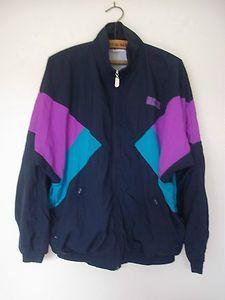 c0e49550e16 Vintage 80s 90s Shell Suit Track Top Rave Retro Festival Jacket Size L