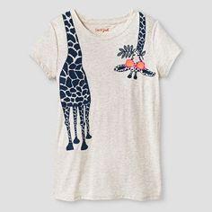 Girls' Giraffe Graphic Tee Cat & Jack™ - Oatmeal