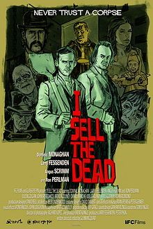 I Sell the Dead Poster... While awaiting his execution for murder and grave robbery, Arthur Blake (Dominic Monaghan) is visited by Father Duffy (Ron Perlman), who wishes to obtain a statement from the condemned to be used as a cautionary tale. Arthur denies that he is a murderer, however, Blake freely admits to being a grave robber, and begins to recount his career with Willie. ~ Brilliant.