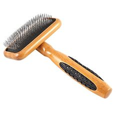 Bass Brushes Small Slicker Style Pet Brush with Bamboo Wood Handle and Rubber Grips -- You can get more details by clicking on the image. (This is an affiliate link and I receive a commission for the sales) #DogLovers