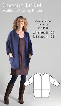 Cocoon Jacket – Multisize sewing pattern