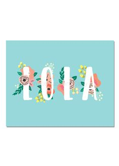 Lola Baby Name Wall Art Lola Baby Name Sign Lola Party